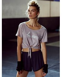 Free People - Pink The Knotted Tee - Lyst