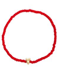 Luis Morais | Red Mini Fly Beaded Bracelet | Lyst