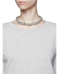 Kenneth Jay Lane - Metallic Crystal Cluster Necklace - Lyst