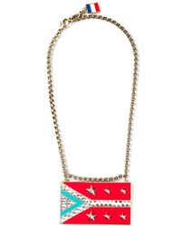Lanvin | Red 'calvi' Flag Necklace | Lyst