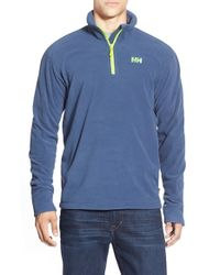 Helly Hansen | Blue 'daybreaker' Half Zip Fleece Jacket for Men | Lyst