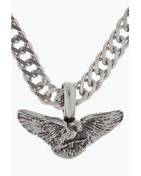 Saint Laurent - Metallic Silver Wings Chain Necklace for Men - Lyst