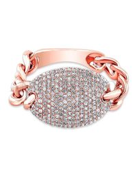 Anne Sisteron | Pink 14kt Rose Gold Diamond Bean Ring | Lyst