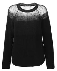 Paul by Paul Smith - Black Sheer Panel Knit Sweater - Lyst