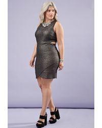 Forever 21 | Metallic Cutout Bodycon Dress | Lyst