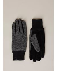Saturdays NYC Gray Charcoal Heather Robert Ragg Wool Glove for men