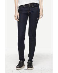 Rag & Bone Blue Heritage High Rise Skinny Jeans