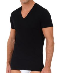 2xist | Black 2 Pack Stretch-cotton V-neck T-shirt for Men | Lyst