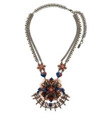 Vickisarge - Multicolor Large Moroccan Rose Crystal Necklace - Lyst