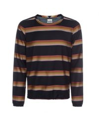 Paul Smith | Multicolor Rainbow Stripe Wool Smock for Men | Lyst