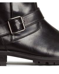 H&M Black Biker Boots for men