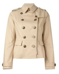 Burberry Brit | Natural Military Jacket | Lyst