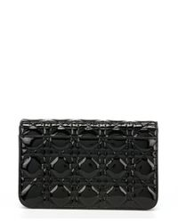 Dior - Black Patent Leather 'miss Dior' Flap Front Shoulder Bag - Lyst