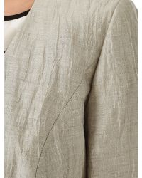 Precis Petite Natural Crinkle Linen Blend Jacket