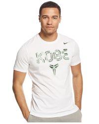 Nike | White Printed Kobe Dri-fit T-shirt for Men | Lyst