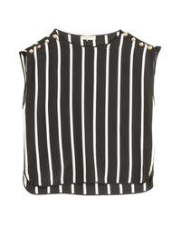 Emilio Pucci - Metallic Striped Silk Cropped Top - Lyst