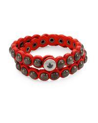 DSquared² - Black Suede Armlet Bracelet for Men - Lyst