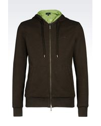 Armani Jeans - Green Hoodie for Men - Lyst