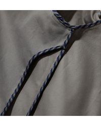 Sunspel Gray Men's Cotton Twill Harrington Jacket for men