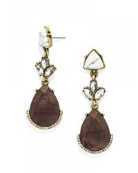 BaubleBar - Brown Gaia Wooden Drops - Lyst