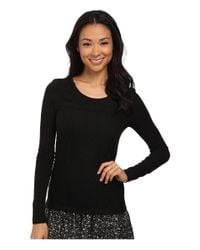 Lucky Brand | Black Lace Patched Thermal | Lyst