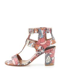 Laurence Dacade - Pink Diane Leather Floral-Print Sandals  - Lyst