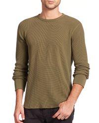 Rag & Bone | Green Standard Issue Waffle-knit Tee for Men | Lyst