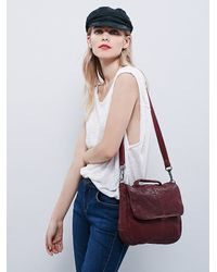 Free People | Purple Latigo Womens Charleston Mini Messenger | Lyst