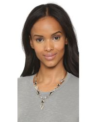 Lulu Frost Metallic Decade Goldplated Faux Pearl and Crystal Necklace