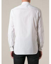 Neil Barrett - White Lightning Bolt Logo Shirt for Men - Lyst