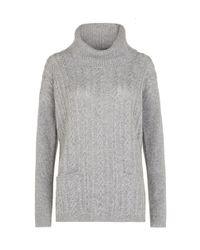 Hobbs Gray Cashmere Rosa Sweater