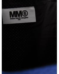 MM6 by Maison Martin Margiela - Blue Perforated Cotton Bucket Tote - Lyst