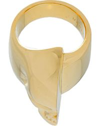 Undercover | Metallic Gold Half Skull Ring for Men | Lyst