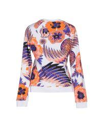 MSGM - White Sweatshirt - Lyst
