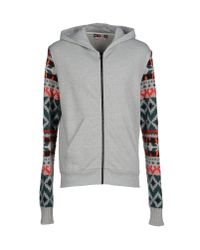 MSGM - Gray Sweatshirt for Men - Lyst