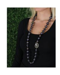 Jordan Alexander - Blue Navy Baroque Pearl Necklace - Lyst