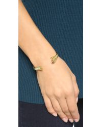 Lady Grey Metallic Reflected Hand Cuff Bracelet - Gold
