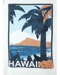 Mango White Hawaii Cotton T-Shirt for men