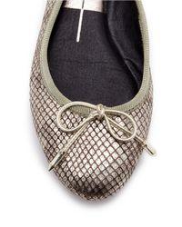 Dolce Vita | Metallic Brae Leather Ballet Flats | Lyst