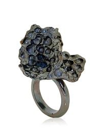 Voodoo Jewels | Black Gold Triple Empty Ring | Lyst