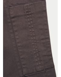 Violeta by Mango - Brown Pocket Slim Trousers - Lyst
