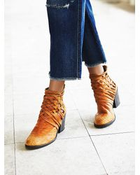 Free People - Brown Carrera Heel Boot - Lyst
