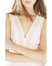 BCBGMAXAZRIA | Metallic Pave Triangle Layered Charm Cuff | Lyst