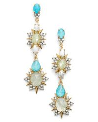 Alexis Bittar | Blue Crystal Linear Drop Earrings | Lyst