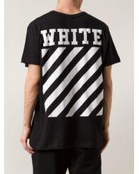 Off-White c/o Virgil Abloh Black New Caravaggio Cotton T-shirt for men