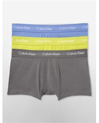 Calvin Klein | Multicolor Underwear Cotton Stretch 3 Pack Low Rise Trunk for Men | Lyst