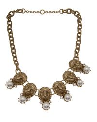 Gerard Yosca | Metallic Dangling Lion Medallion Necklace | Lyst