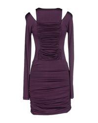 Balmain - Purple Short Dress - Lyst