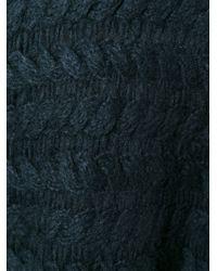 Rick Owens - Black Asymmetric Cable Knit Cardigan - Lyst