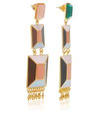 Paula Mendoza | Multicolor Hexagon Stone Earrings | Lyst
